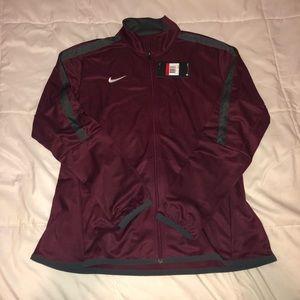 Nike Maroon Full Zip Jacket